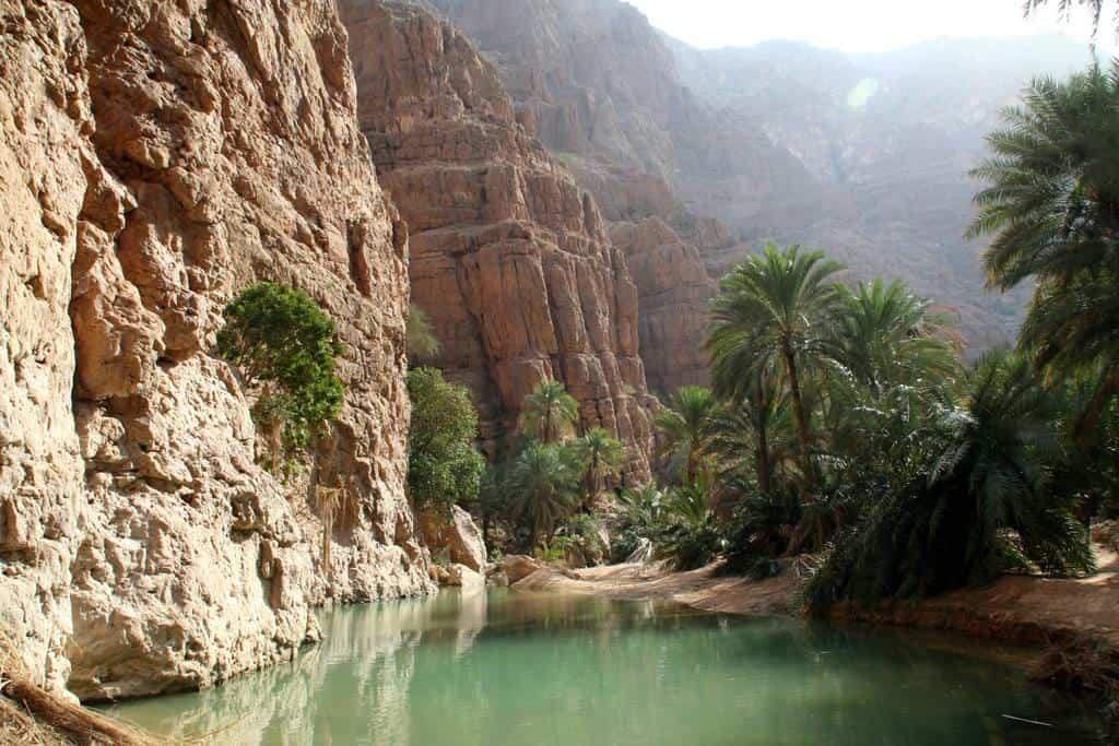 De Wadi Shab oase