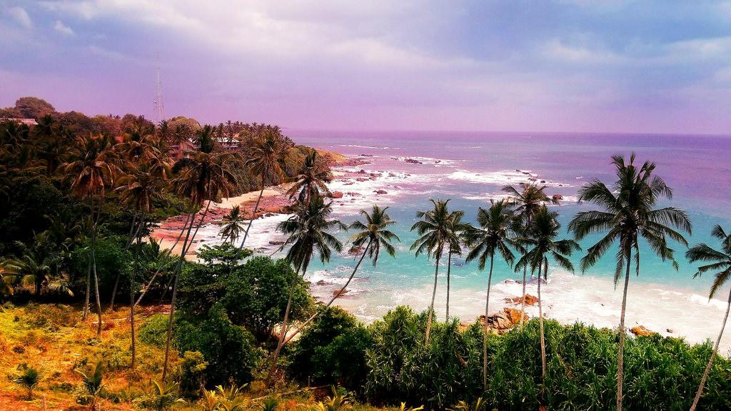 Het strand van Sri Lanka