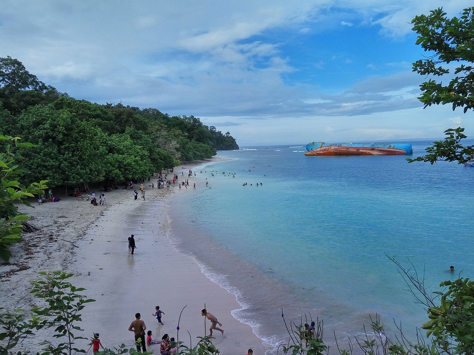 Tropisch strand in Java