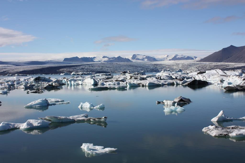 Het Jokulsarlon gletsjer meer