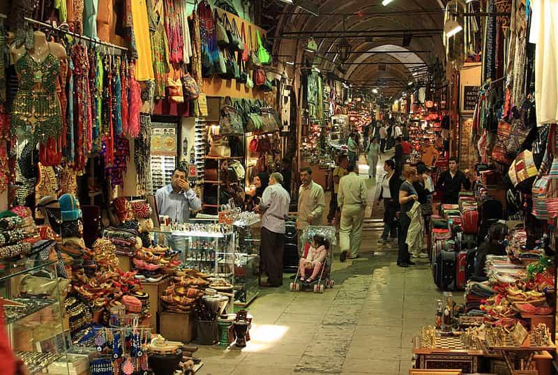 Grote Bazaar in Istanboel, Turkije