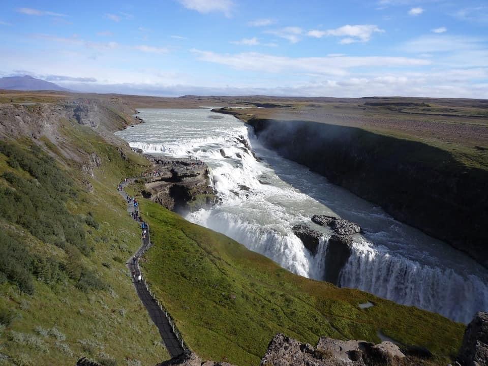 De gullfoss waterval in Ijsland