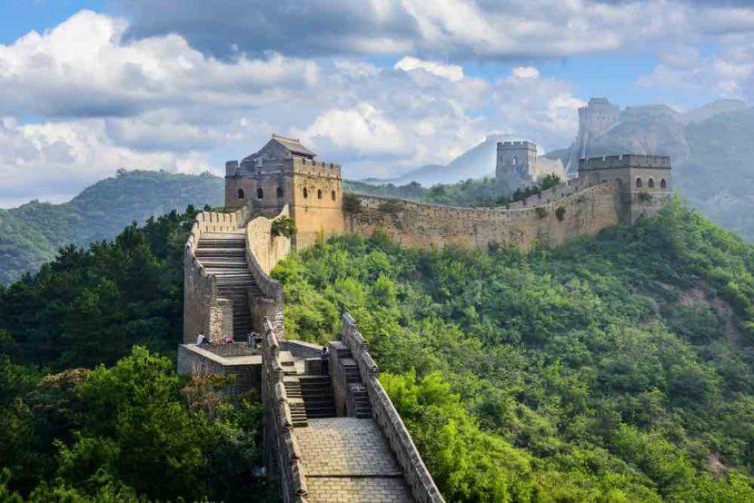 Uitzicht over de Chinese muur